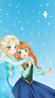 Frozen- Anna and Elsa by ItsAnimeTime1099