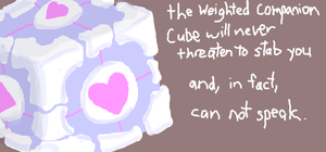 Weighted Companion Cube by gogglesonmyhead