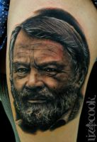 John Fowles Portrait by LizCookTattoo