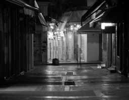 Empty streets of Athens by StamatisGR