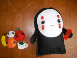 NoFace from Spirited Away by plushies-by-chrissie