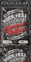 Rock Fest Typographic Flyer PSD Template by ShermanJackson