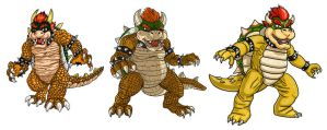 A Progression of Bowsers by DLTabor