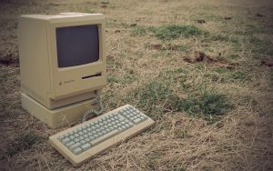 Macintosh in a Field by CreativeLiberties