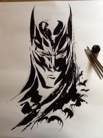 Ink Batman by MoonProphecy