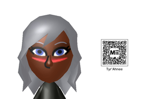 Mii attempt 2 - Martian Queen Tyr'Ahnee Mii 3DS by spyaroundhere35