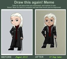Draw this Again - Lucius Malfoy Chibi by dragaodepapel