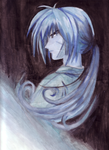 Blue Watercolor Kenshin by angelhitomi