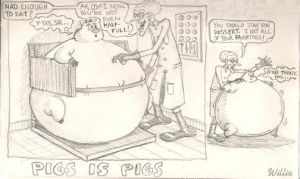 Pigs Is Pigs sketch by WillixArtist