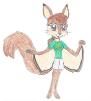 Glida the Flying Squirrel New Look by KendraTheShinyEevee