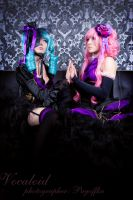 Miku and Luka by bellatrixaiden
