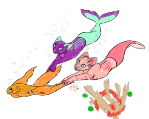 :XMAS REQUEST 2014: Happy Holidays, Sirena-n-Elsa! by JasmynGarden