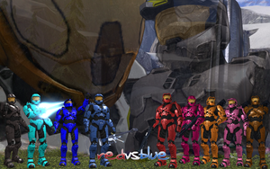Red VS Blue Wallpaper by KiyoshiNobuyuki