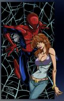 Spidey Loves MJ by JusticeCho