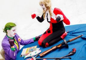 Joker and Harley Animated Series from Magfest 2015 by PulpAddedCosplay