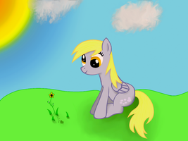 derpy on the grass by HeavyMetalBronyYeah