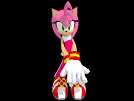 Sonic Riders Amy for MMD by Sticklover4