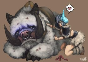 Sejuani's soft side by Monstoner