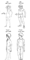 Then and Now - Character Redraws by batcii