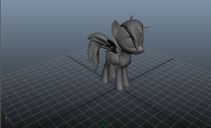 Rainbow Dash Maya Model by SkittlesThePony1