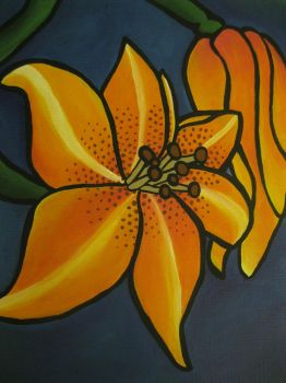 Tiger Lily Commission-Closeup by joidvivre