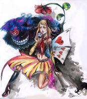 Alice in Wonderland by Erika-Xero