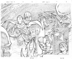 Superman Aliens II Pages 2,3 by thecreatorhd