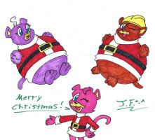 Pink Panther Holiday Ballooning (Request) by NekoEmerald