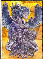 Dracosblackwing the dragon by MarianoTvw