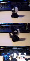 Wool Felting: KageKitty by GingaAkam