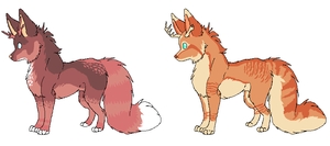 Antlered Fox Adopts - CLOSED by ABOMinableSpectra