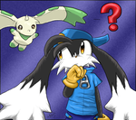 Klonoa and Terriermon by morganchan