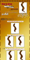 How to draw hair by Laviolenta