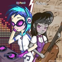 Dj Pon3 (Vinyl) and Octavia by OtomeMurasaki