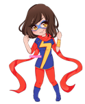 Commission: Kamala Khan (MS.MARVEL) by beabi-chan