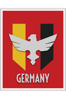 Germany Flag Poster by PARGOdesign