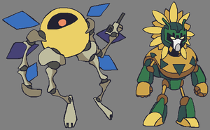 Deviant Mecha Fight: Hertz and Mex by brotoad