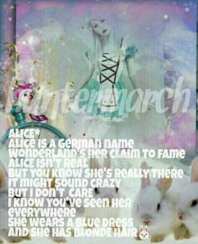 Alice  {A request} *Girl's Name Poems by huntermarch