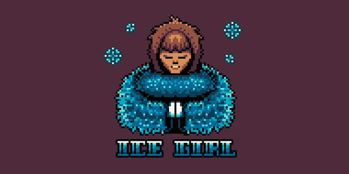 Ice Girl, now in pixel form. by fuzzgoddess