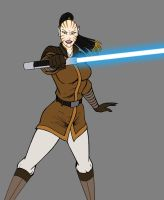 Juhani - Jedi Knight WIP by JosephB222