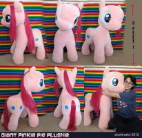 GIANT Pinkie Pie Plushie for AUCTION by GrowlyLobita