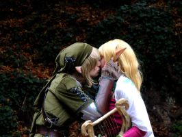 First Kiss -Zelda and Link- by memoire-hana