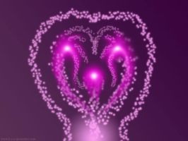 The three pink orbs of love by B-S-A