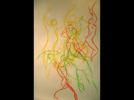 Mouvement drawing by Dathamir
