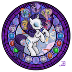 Rarity Stained Glass by Akili-Amethyst