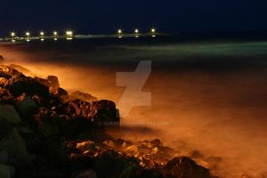 Of Waves and Rocks II by Quenia
