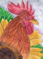 Rooster Watercolor by UnicornInfektion