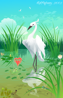 True love and egret by KekPafrany