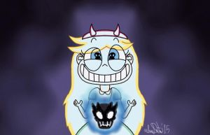 Star Butterfly With The Skullheart...OH CRAP! by TheIransonic