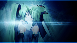 .: Two Miku kissing each other :. by Miky-Rei